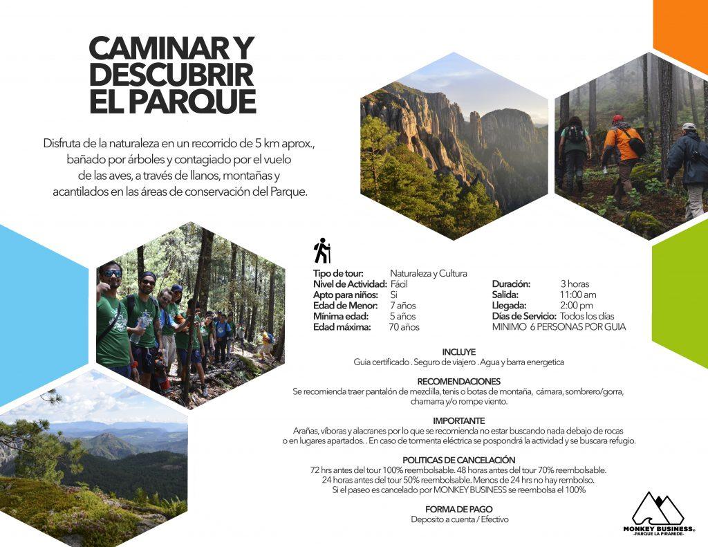 CAMINAR Y DESCUBRIR EL PARQUE
