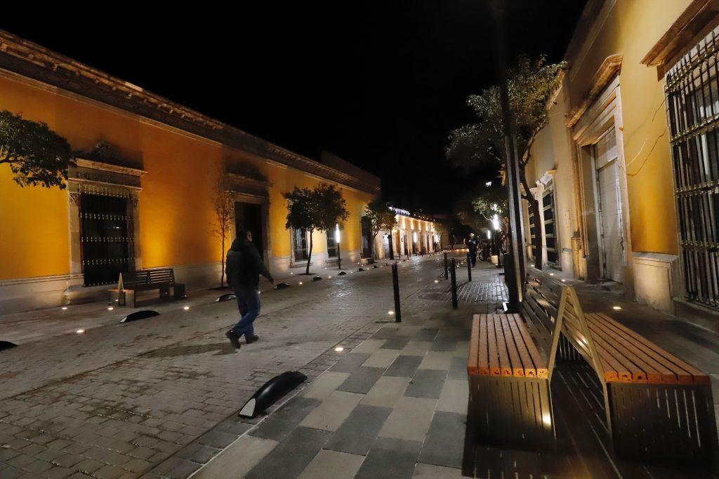 Entrega Aispuro semipeatonalización de calle Hidalgo